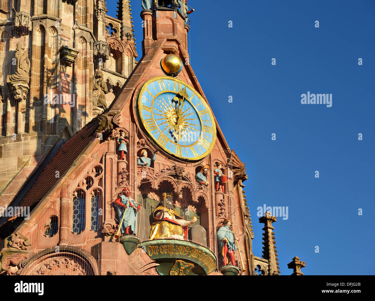 Frauenkirche in Nuremberg, Germany - Stock Image