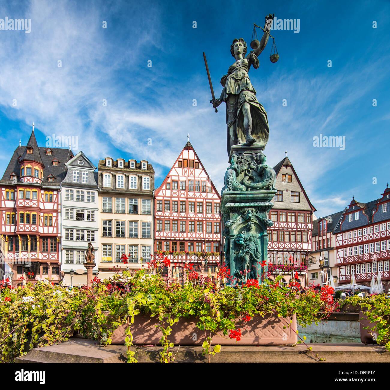 The Old City of Frankfurt, Germany. - Stock Image