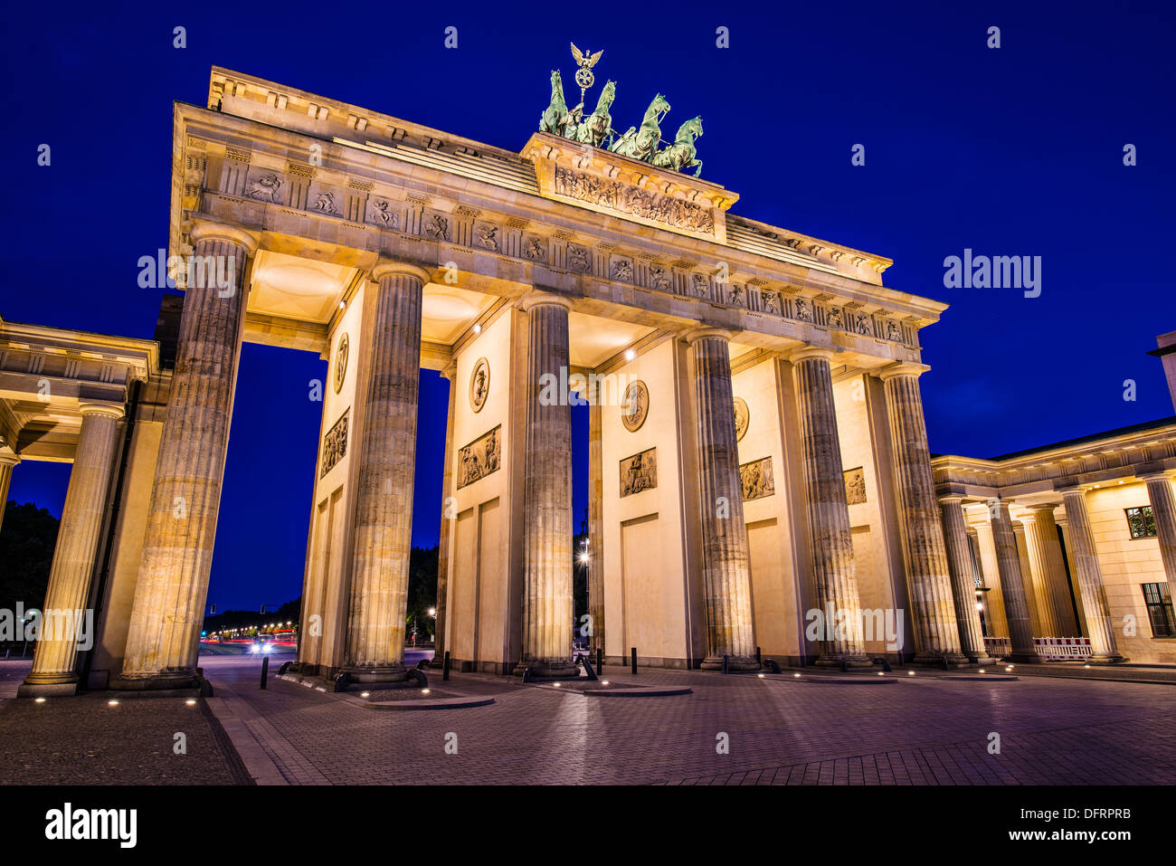Brandenburg Gate in Berlin, Germany. Brandenburg Gate in Berlin, Germany. - Stock Image