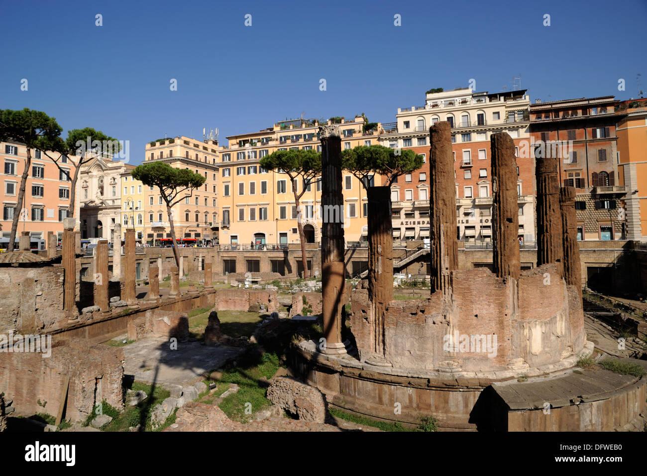 italy, rome, area sacra of largo di torre argentina, temple B (2nd century BC) Stock Photo