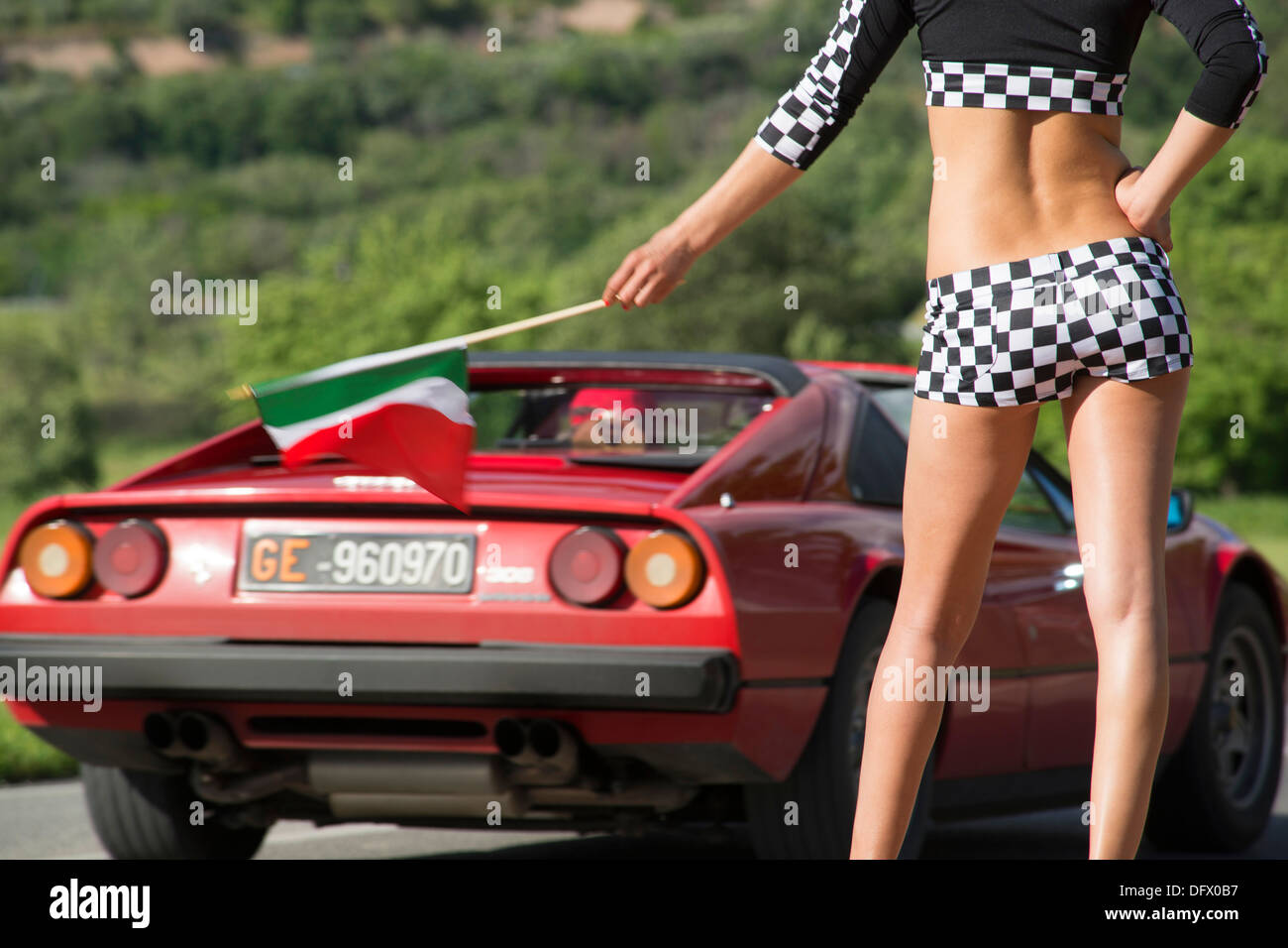 Italy car and girls
