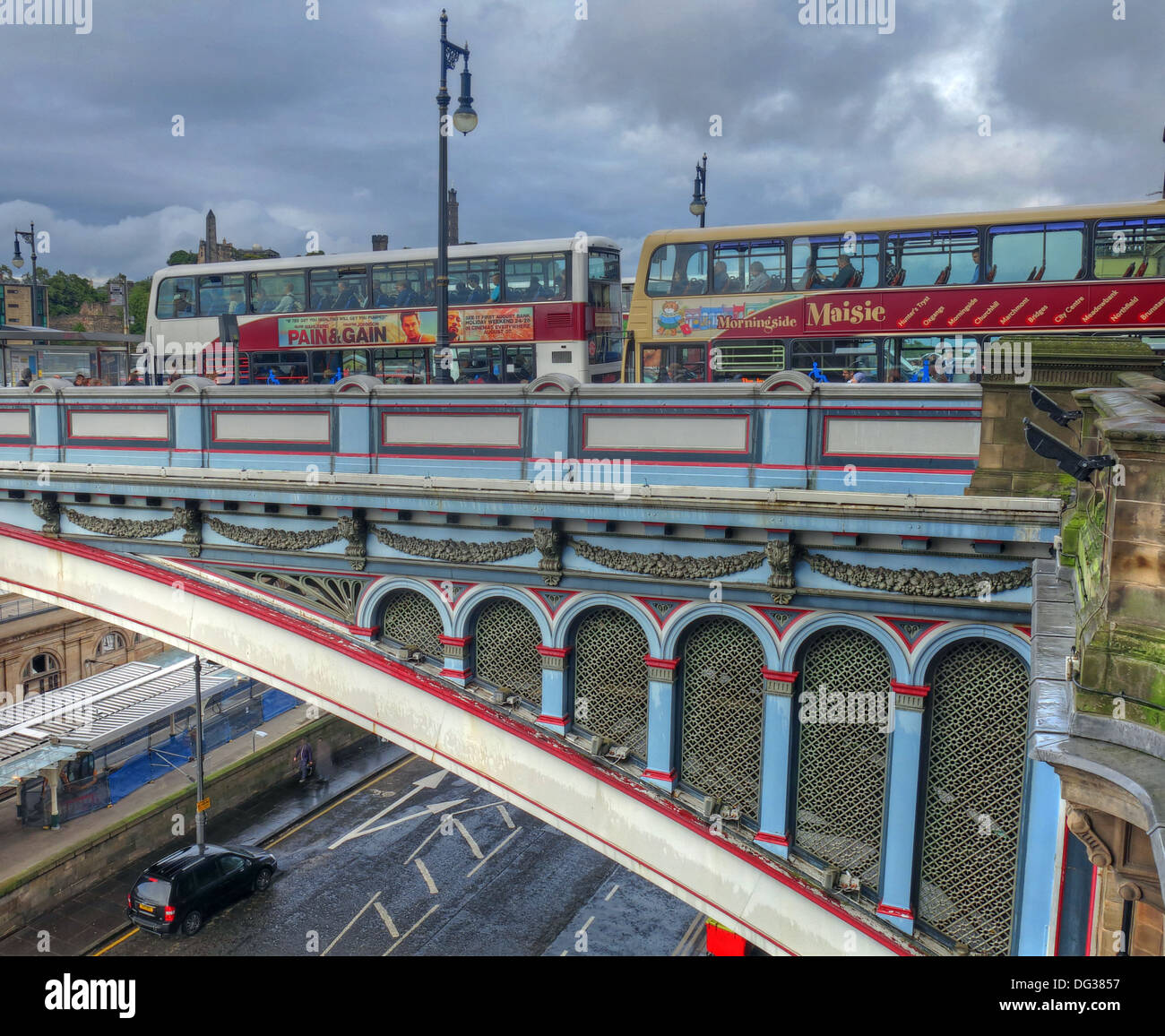 Scotland,UK,EH1,colourfull,hidden,secret,scots,capital,city,for,tourist,northbridge,southbridge,bridges,transport,links,link,old,new,town,span,moody,sky,gotonysmith,Buy Pictures of,Buy Images Of
