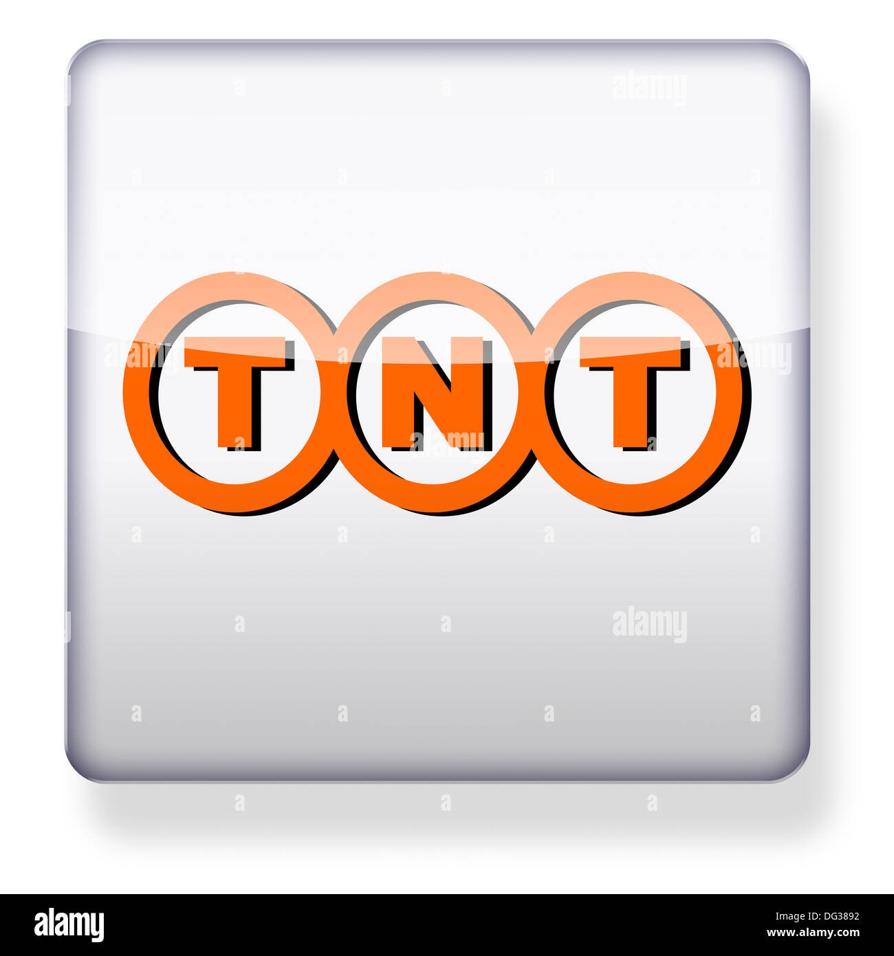 TNT Express logo as an app icon. Clipping path included. - Stock Image