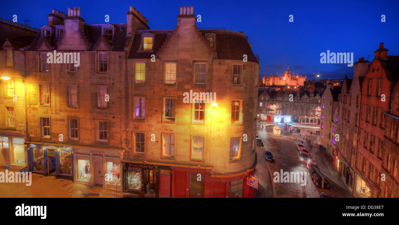 Victoria,Street,Edinburgh,City,Scotland,UK,at,dusk,Night,Shot,Victoria,St,West Bow,world,heritage,site,Old,Town,Lothian,Lothians,EH1,2JW,EH12JW,st,blue,sky,west,bow,westbow,mixed,lighting,history,historic,building,buildings,architecture,at,night,nightshot,view,over,city,town,Gotonysmith,st.,tourist,tourism,trail,walk,walkways,around,tour,tours,down,into,the,Grassmarket