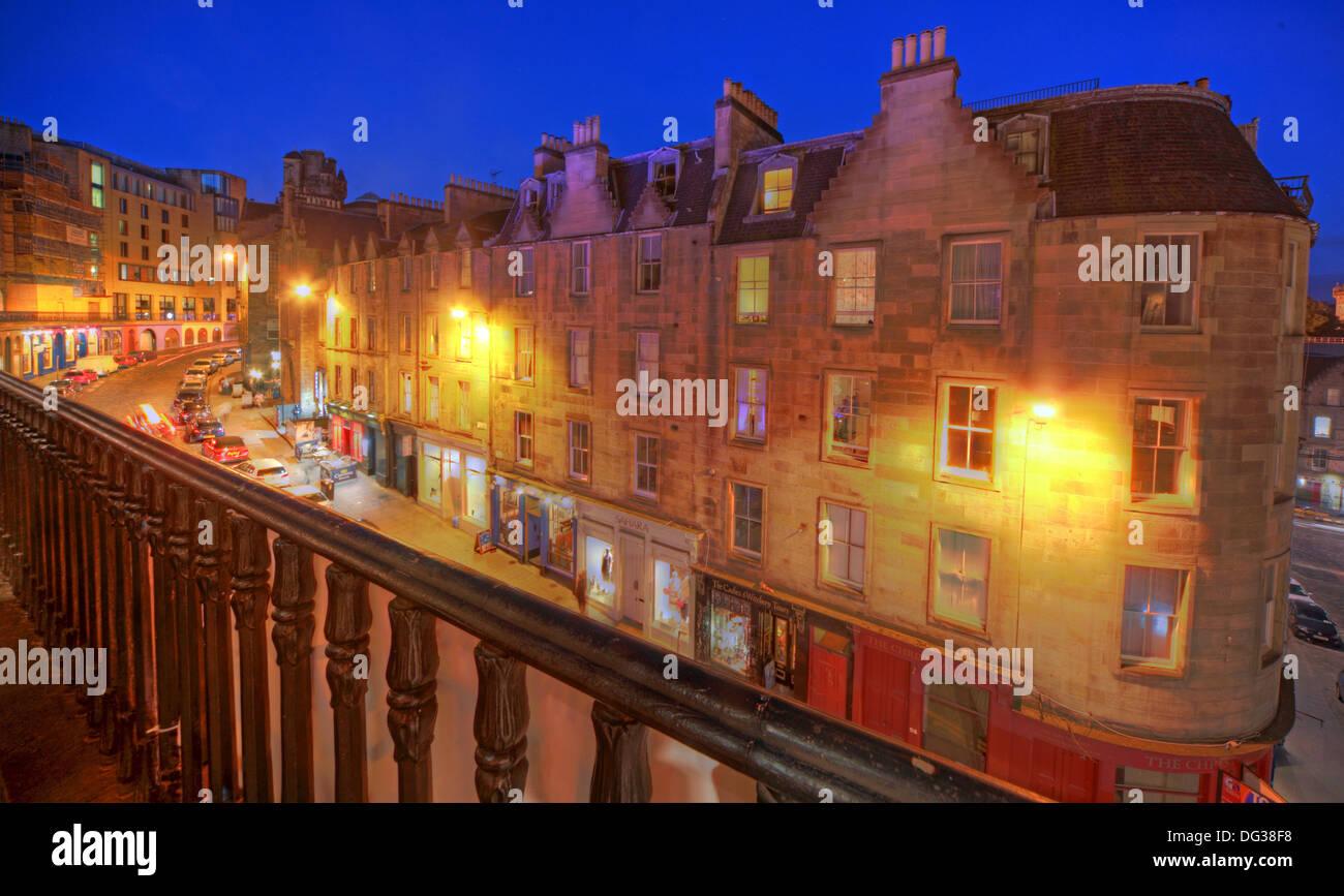 Victoria,Street,Edinburgh,City,Scotland,UK,at,dusk,Night,Shot,Victoria,St,West Bow,world,heritage,site,Old,Town,Lothian,Lothians,EH1,2JW,EH12JW,st,blue,sky,west,bow,westbow,mixed,lighting,history,historic,building,buildings,architecture,at,night,nightshot,corner,stone,shop,bowbar,pub,pubs,bar,GB,Gotonysmith,st.,tourist,tourism,trail,walk,walkways,around,tour,tours,Great,Britain,bars,lights,streetlight,streetlights,Buy Pictures of,Buy Images Of,Scotlands History,Scotlands History