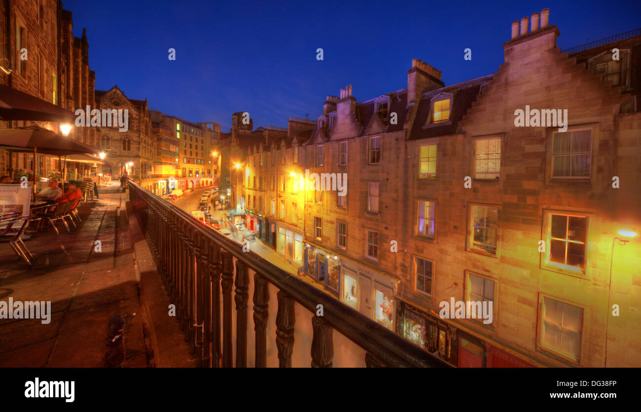 Victoria,Street,Edinburgh,City,Scotland,UK,at,dusk,Night,Shot,Victoria,St,West Bow,world,heritage,site,Old,Town,Lothian,Lothians,EH1,2JW,EH12JW,st,blue,sky,west,bow,westbow,mixed,lighting,history,historic,building,buildings,architecture,at,night,nightshot,up,the,road,looking,rail,railings,Gotonysmith,st.,tourist,tourism,trail,walk,walkways,around,tour,tours,railing,Buy Pictures of,Buy Images Of