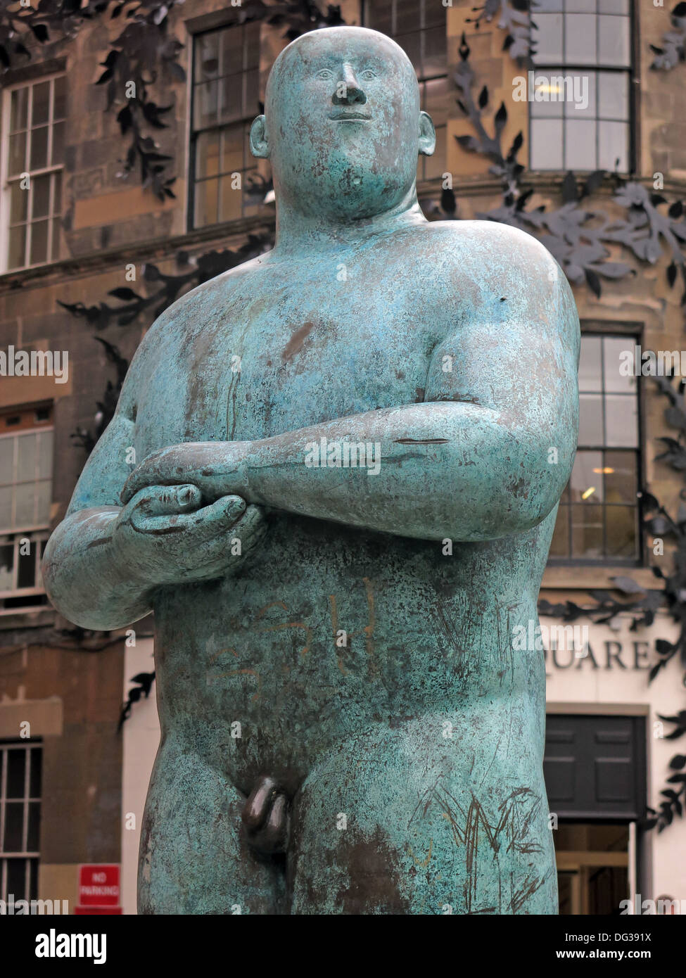 sq,sq.,centre,center,green,bronze,naked,man,Statue,outside,Princes,Square,shopping,Mall,48,Buchanan,Street,in,central,Glasgow,Scotland,UK,G1,3JN,As,proud,As,art,artist,work,works,gotonysmith