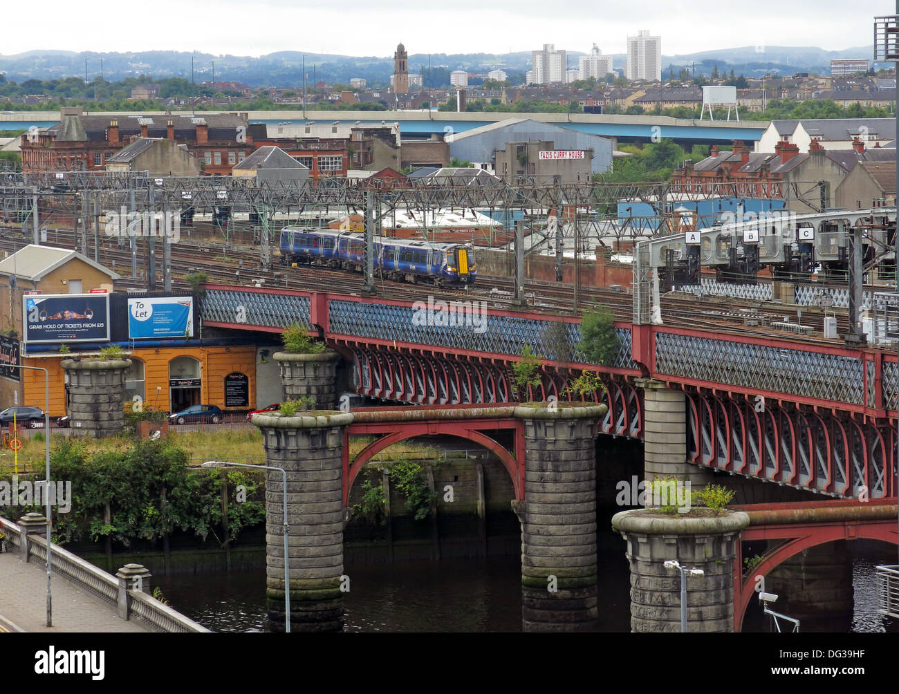 city,Clydeside,rail,railroad,railway,Scotrail,Abellio,Abelio,Bridge,at,Glasgow,Central,station,train,over,the,River Clyde,river,Scotland,UK,GB,Scottish,Scots,BR,British Rail,British,Great Britain,transport,infrastructure,Victorian,WCML,west,coast,main,line,travel,tourism,GoTonySmith,Buy Pictures of,Buy Images Of