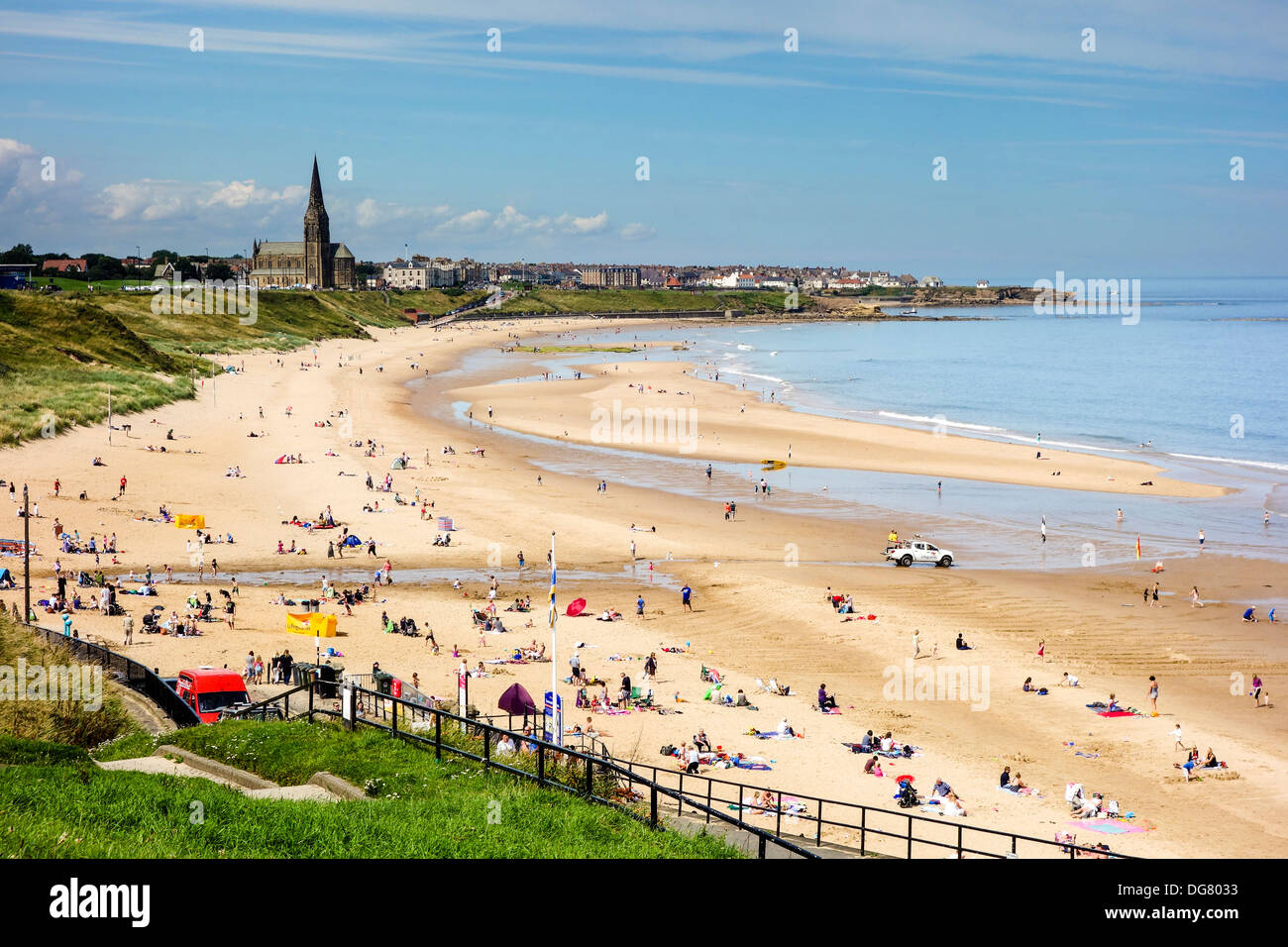 Longsands Beach, Tynemouth in summer Stock Photo