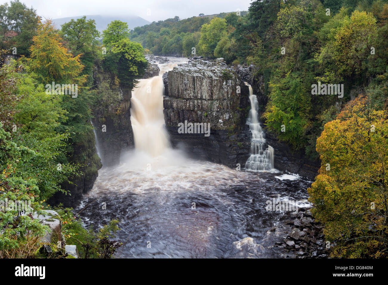 High Force Teesdale County Durham UK Stock Photo