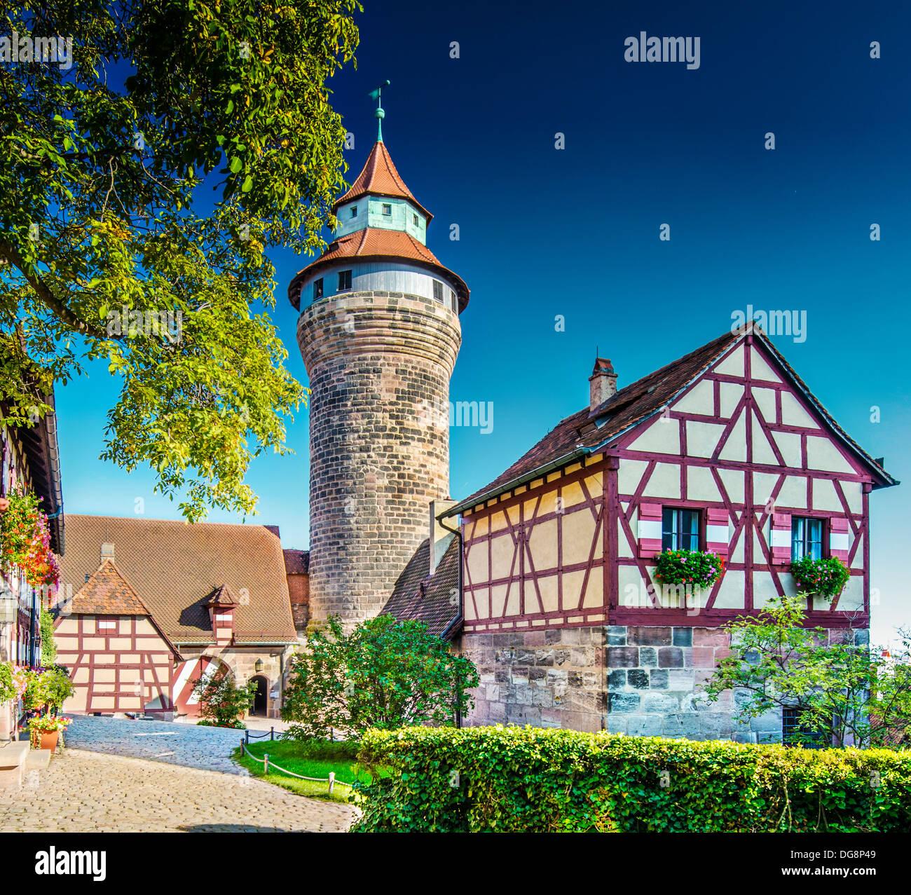Nuremberg Castle Nuremberg, Germany. - Stock Image