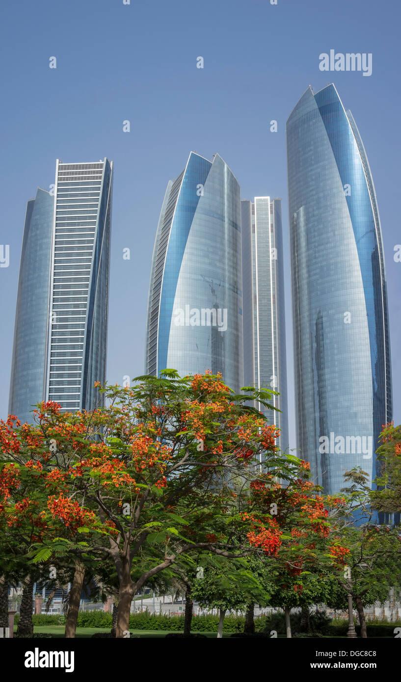 Etihad Towers, Adu Dhabi, United Arab Emirates - Stock Image