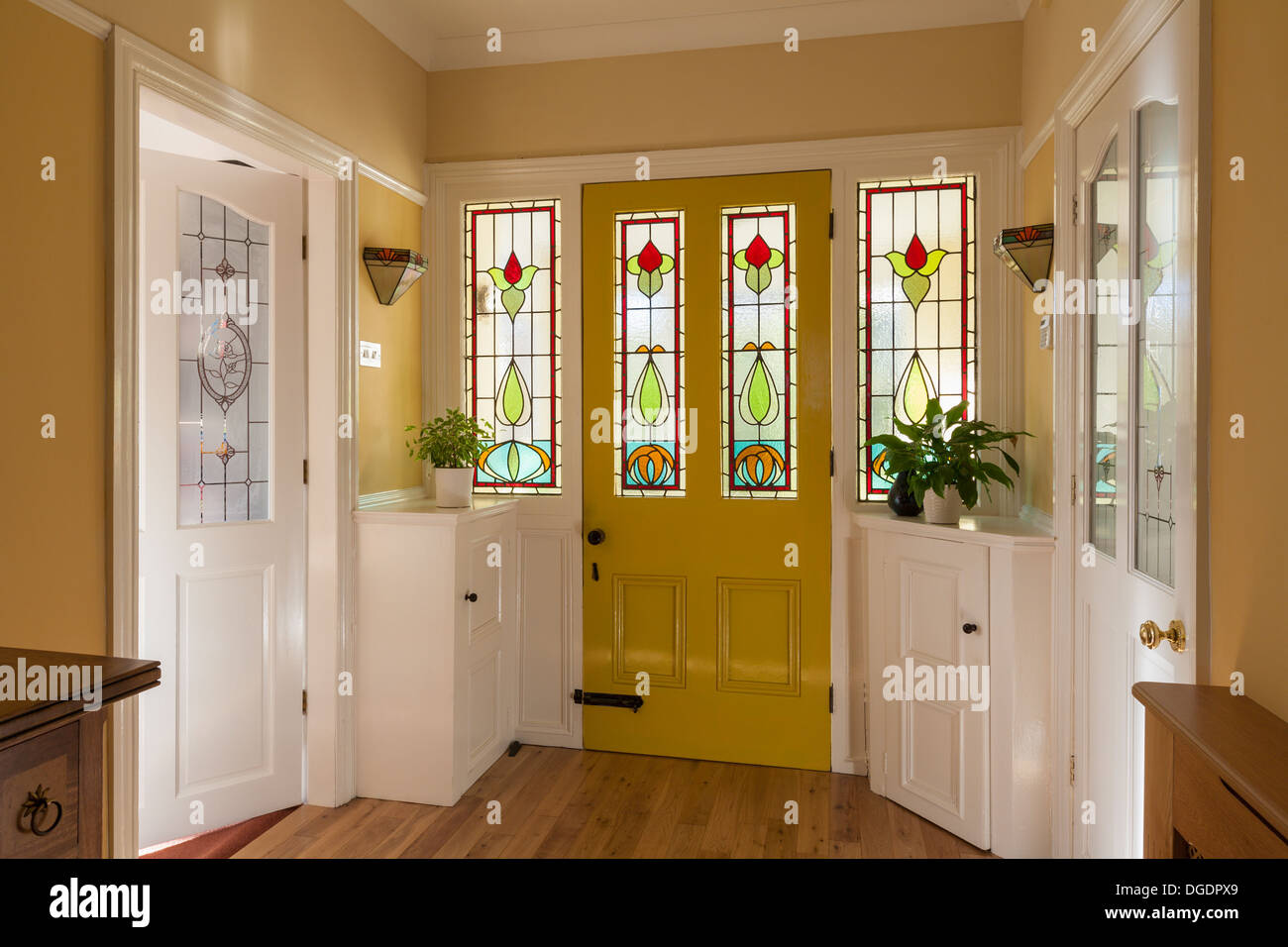 front door and hallway of domestic house stock photo 61768961 alamy