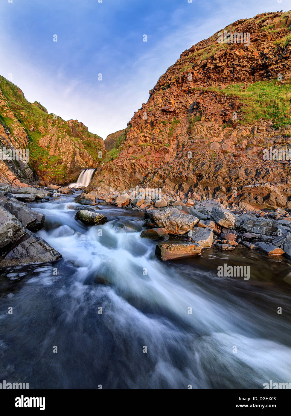 Views of Speke Mill near Hartland Quay. - Stock Image