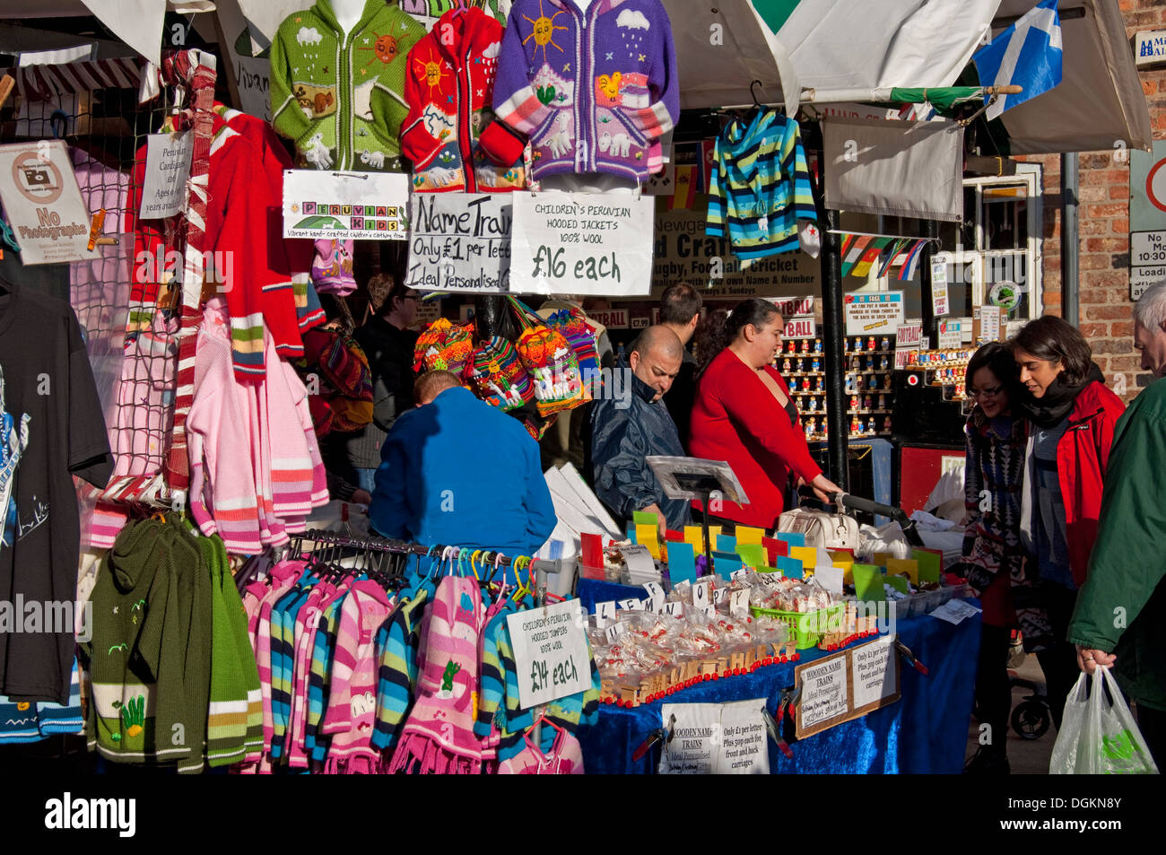 a609e98b00fa Childrens clothing for sale on market stall Stock Photo  61899403 ...
