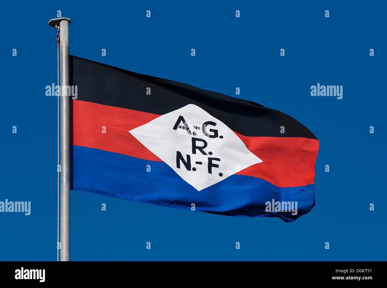 Flag of the Norden-Frisia shipping company, shipping corporation Norden-Frisia, North Sea Ferries - Stock Image