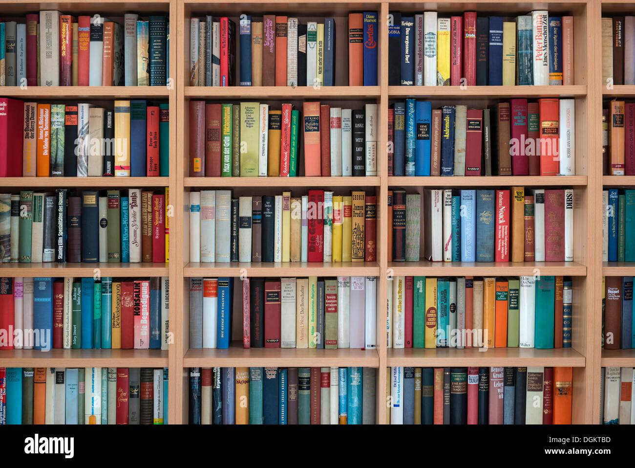 Full Bookshelves German Books Stock Photo 61901825 Alamy