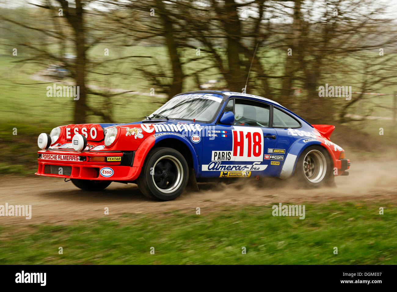 Porsche 911 Built In 1982 Vintage Rally Car During The German