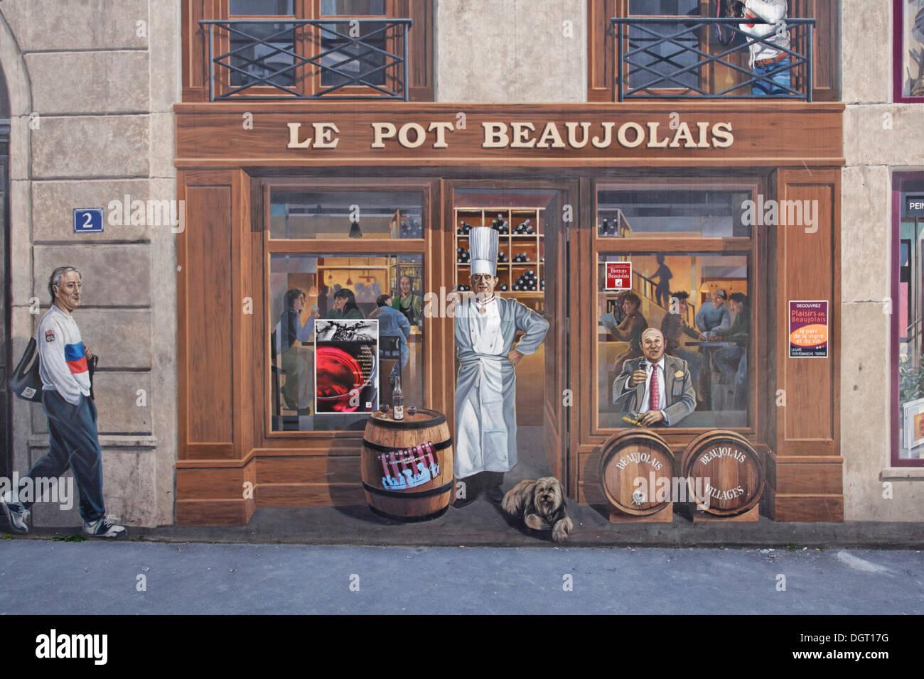Trompe L Oeil Malerei trompe l oeil painting on house facade on the quai vincent