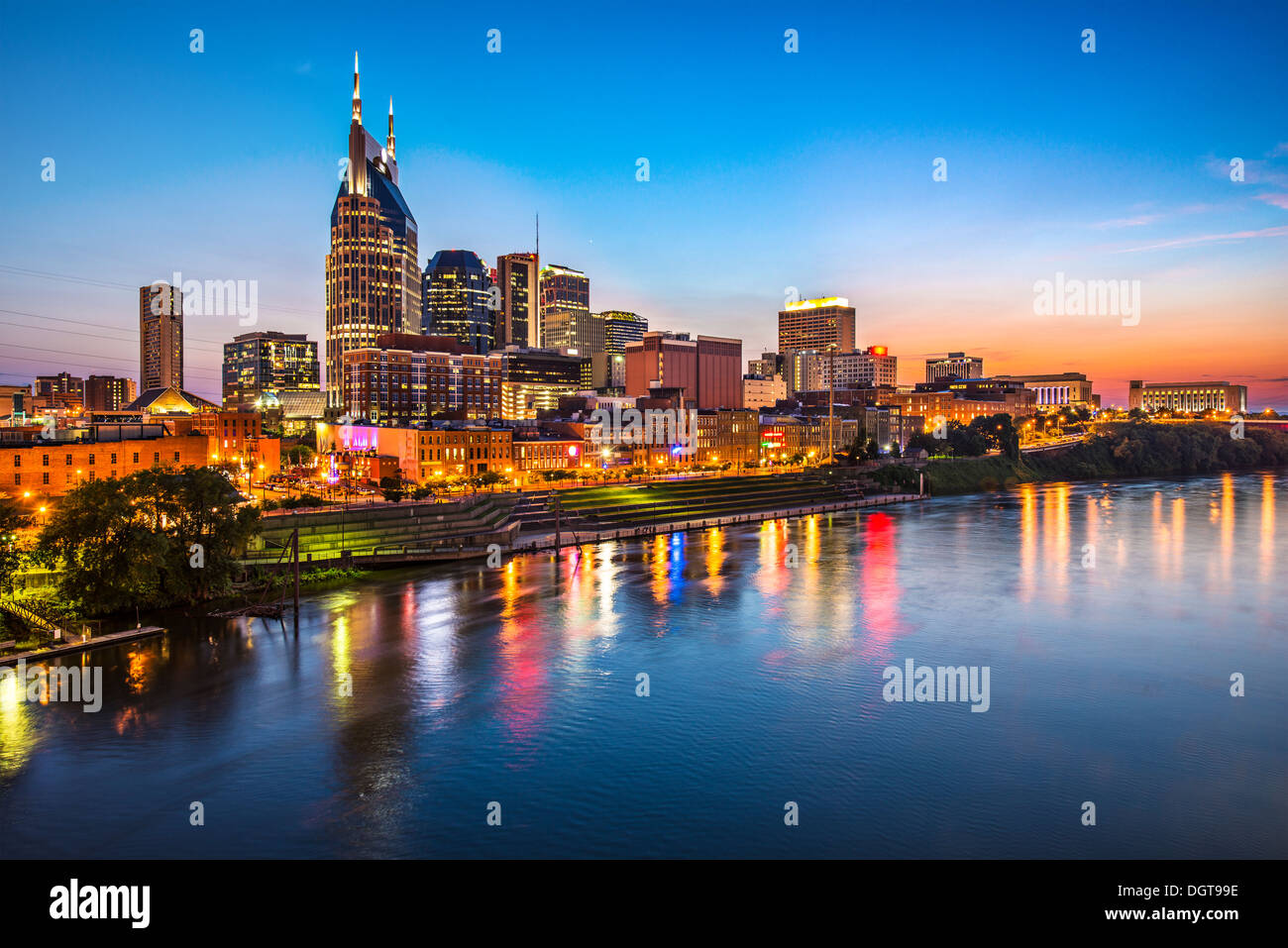 Skyline of downtown Nashville, Tennessee. - Stock Image