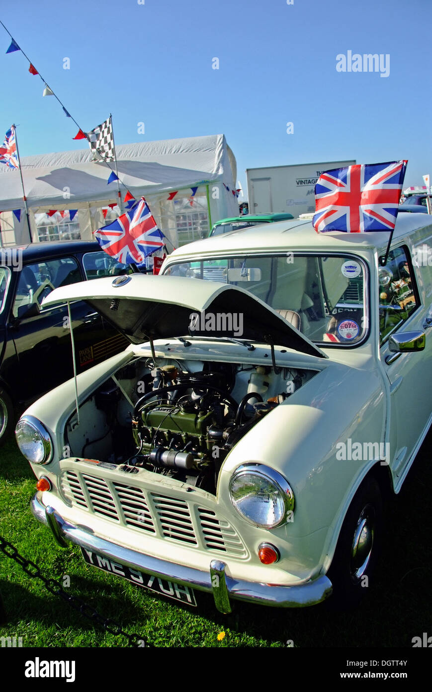 Austin Mini at Classic car Rally - Stock Image