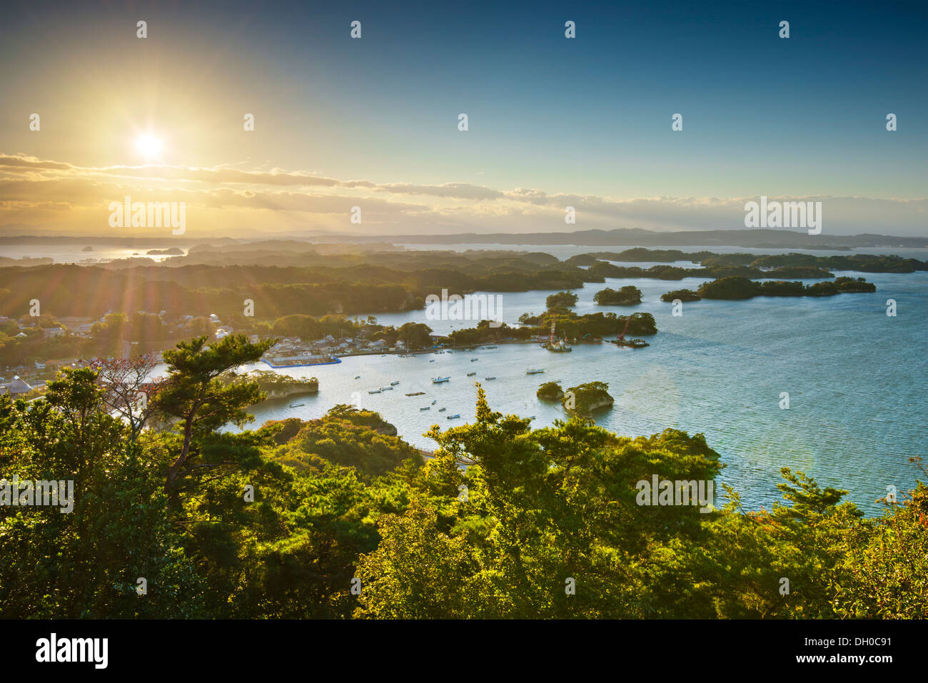 Coast of Matsushima, Japan. - Stock Image