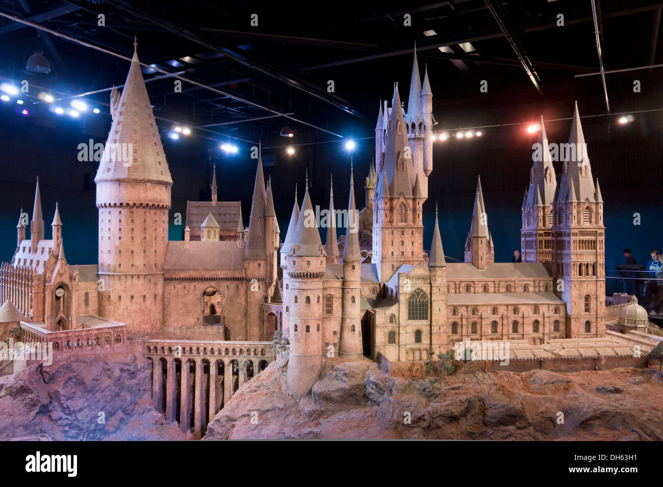 Interior scenes of Hogwarts castle Model room Harry Potter World Warner Bros Studio Tour Leavesden Watford London - Stock Image