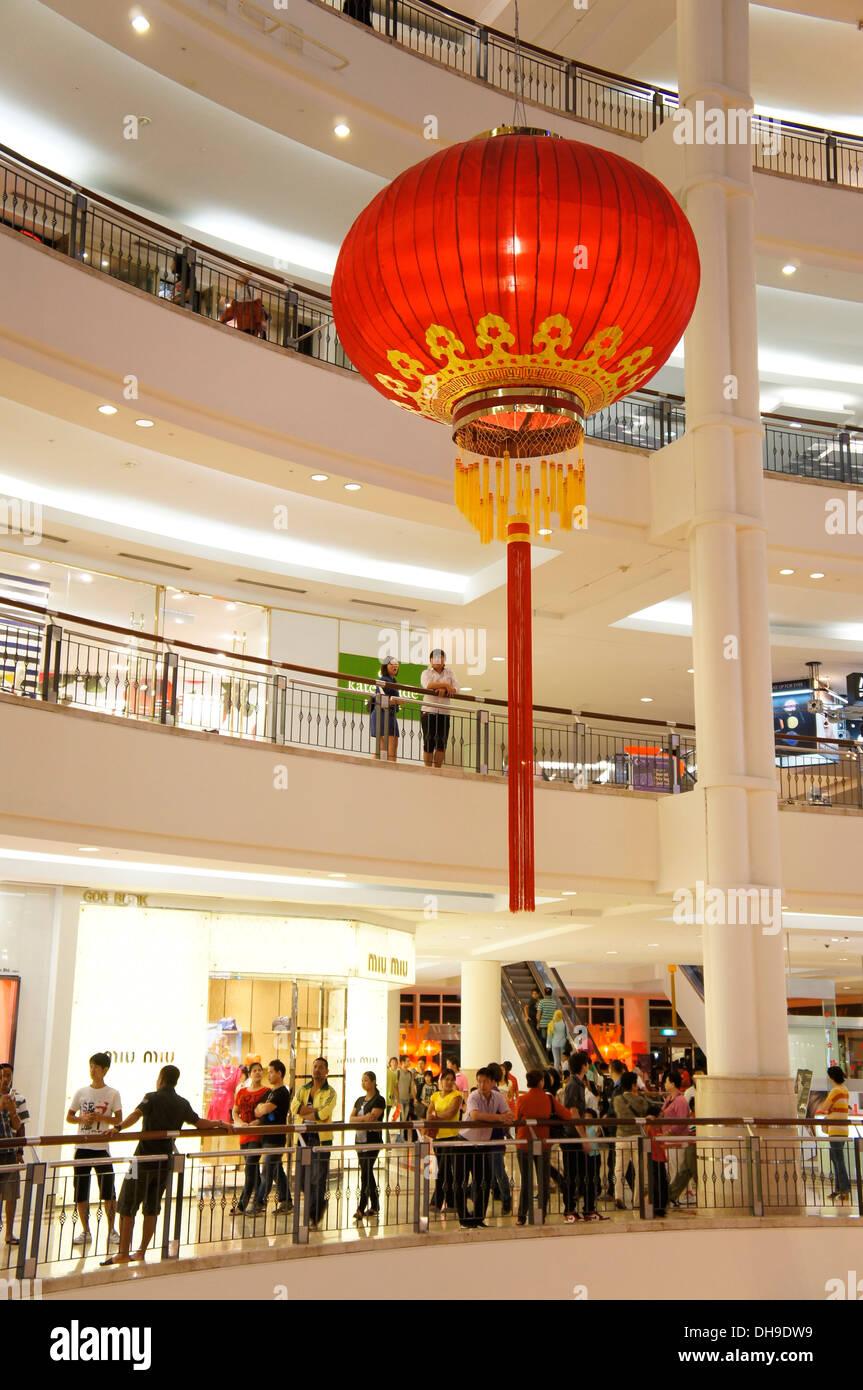 gigantic red lantern - Stock Image