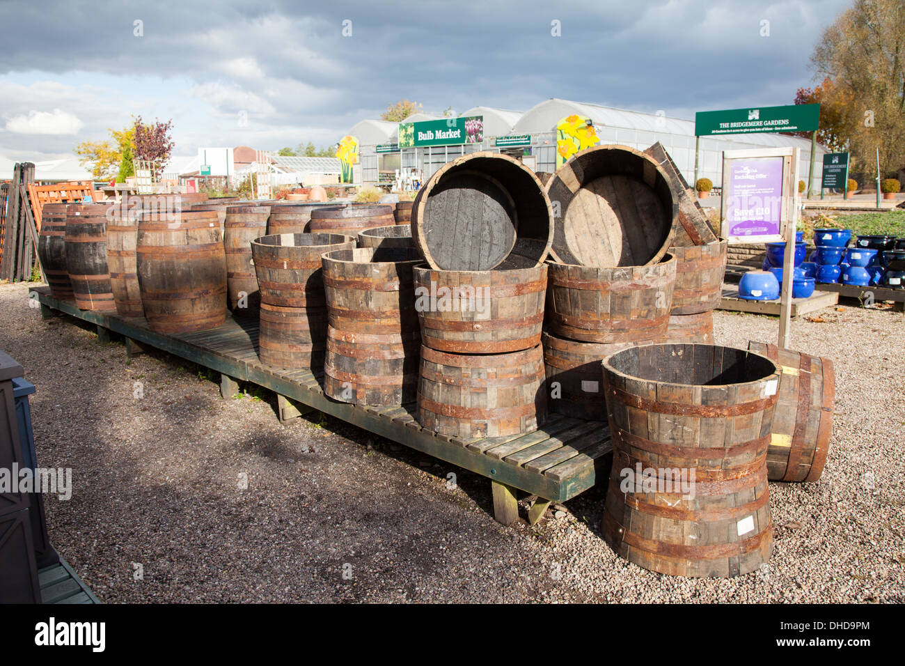 Wooden tubs and barrels for sale at Bridgemere Nursery and Garden ...