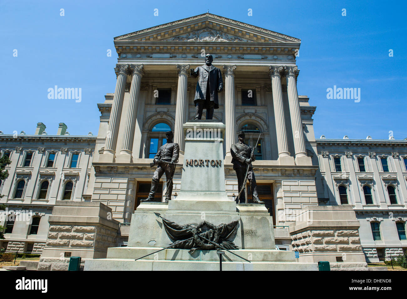 Indiana Statehouse, the state capitol building, Indianapolis, Indiana, United States of America, North America - Stock Image