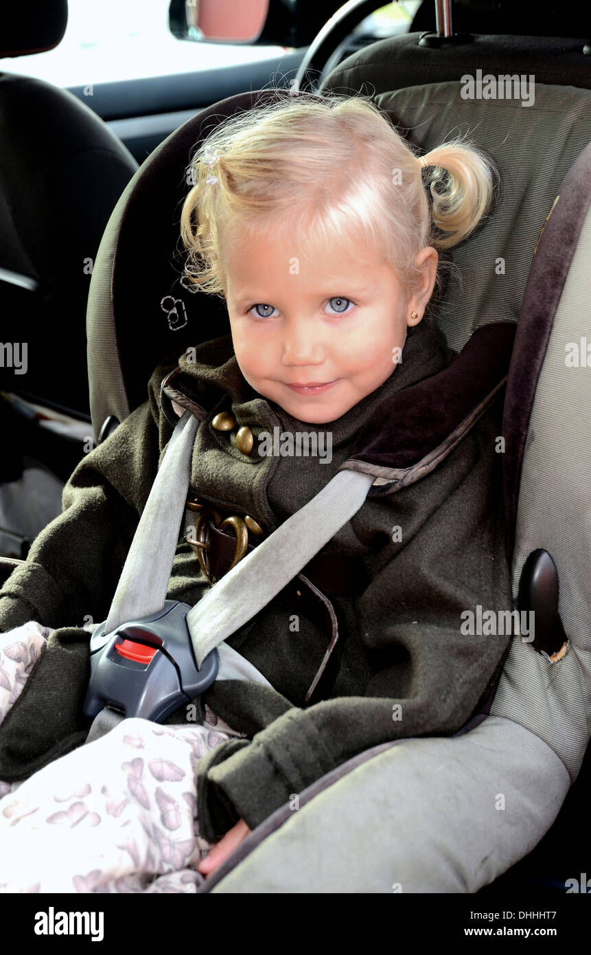 Girl In A Car Safety Seat Scania Sweden