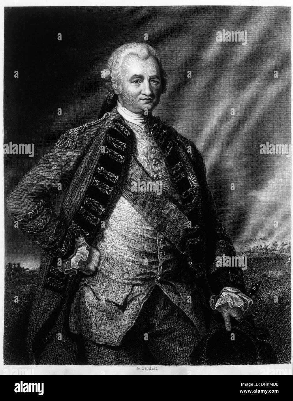 Robert Clive, 1st Baron Clive of Plassey (1725-1774), Soldier and First British Administrator of Bengal, Engraving, - Stock Image