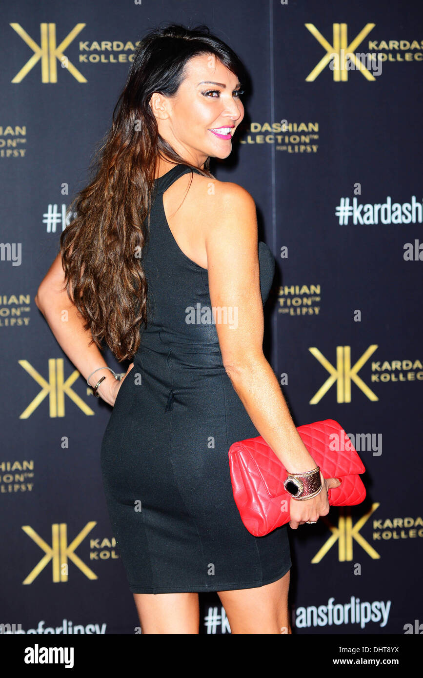 London UK 14th Nov 2013 : Lizzie Cundy attends the launch party for the Kardashian Kollection for Lipsy at Natural - Stock Image
