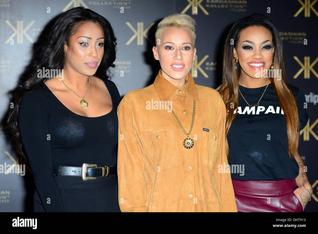 London UK 14th Nov 2013 : Stooshe attends the launch party for the Kardashian Kollection for Lipsy at Natural History - Stock Image