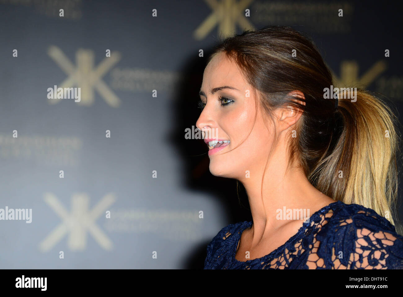 London UK 14th Nov 2013 :  Fran Newman-Young attends the launch party for the Kardashian Kollection for Lipsy at - Stock Image