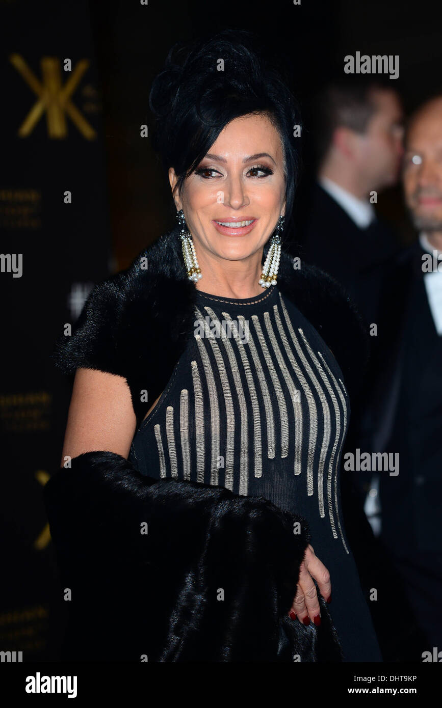 London UK 14th Nov 2013 : Nancy Dell'Olio attends the launch party for the Kardashian Kollection for Lipsy at - Stock Image