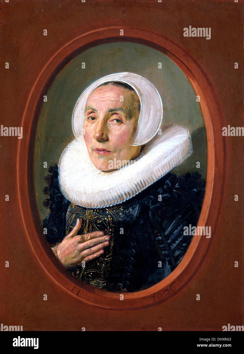 Anna van der Aar - by Frans Hals, 1626 - Stock Image