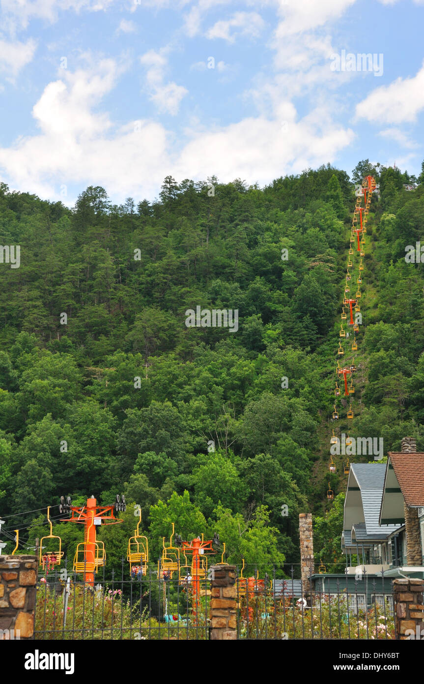 Ober Gatlinburg Ski Lift In Gatlinburg, Tennessee, USA   Stock Image