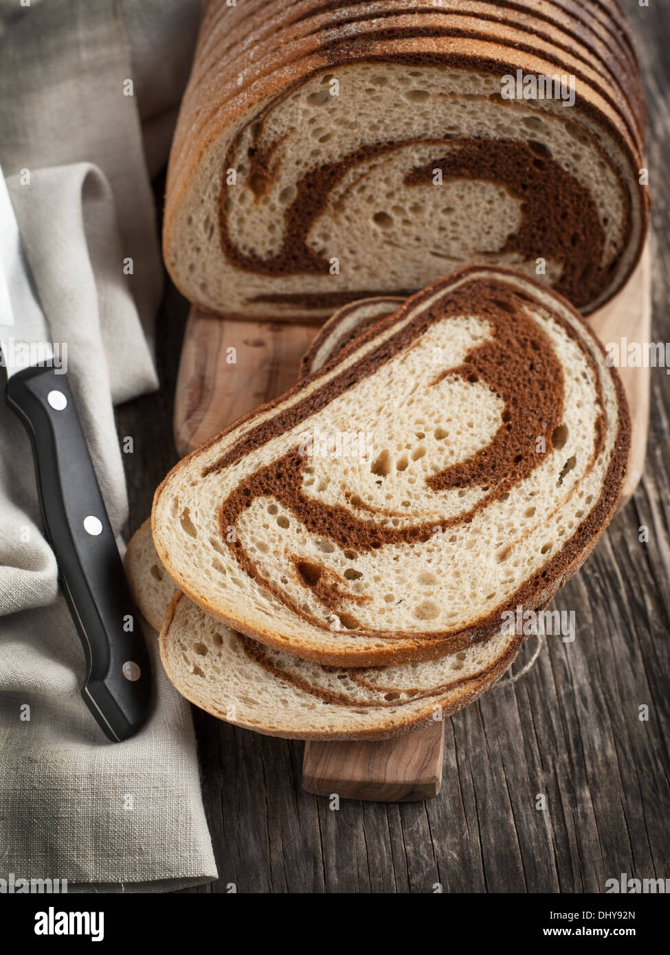 Marble rye bread Stock Photo