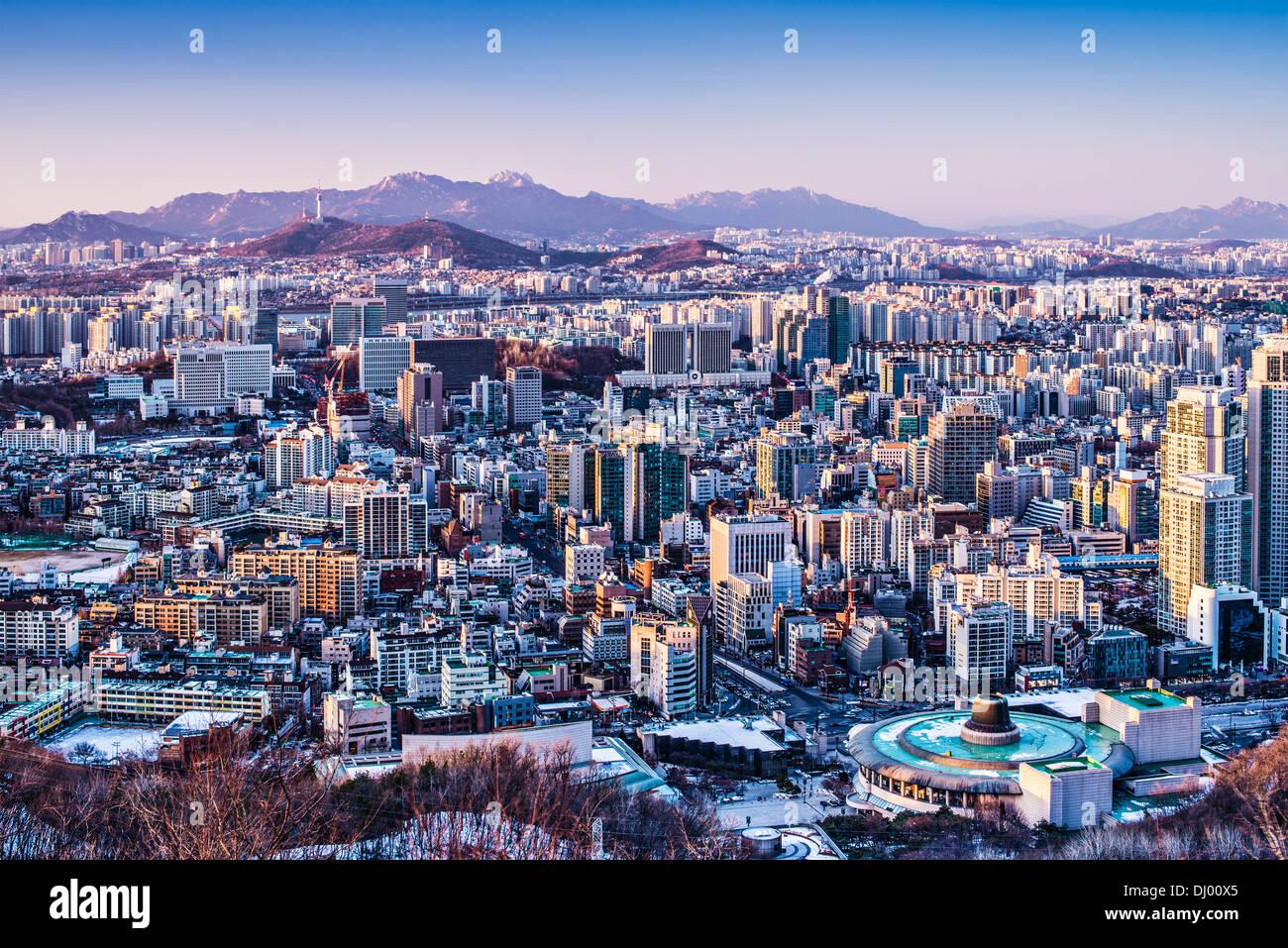 Seoul, South Korea afternoon skyline. - Stock Image
