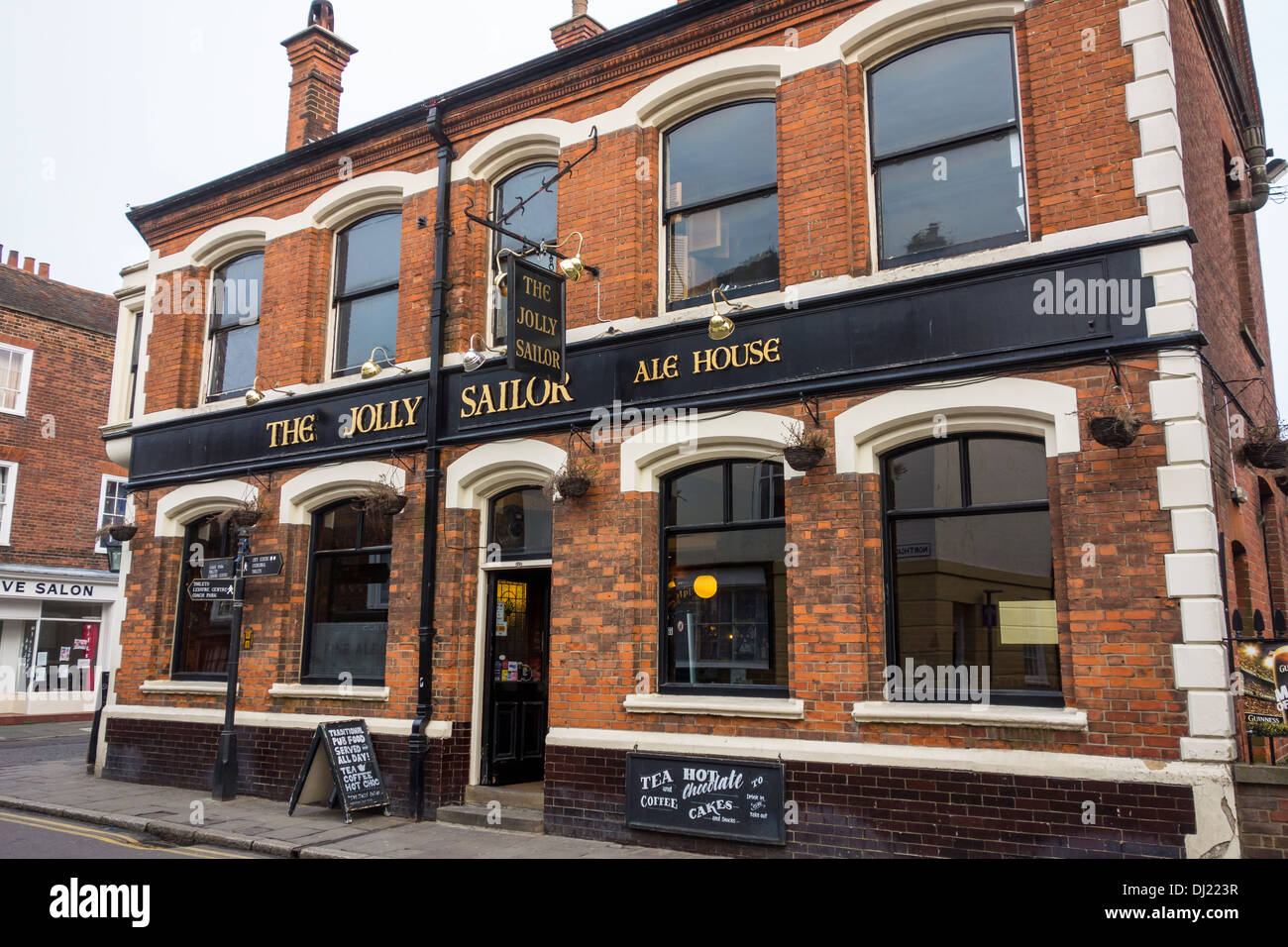 The Jolly Sailor Pub Ale House Canterbury Kent - Stock Image