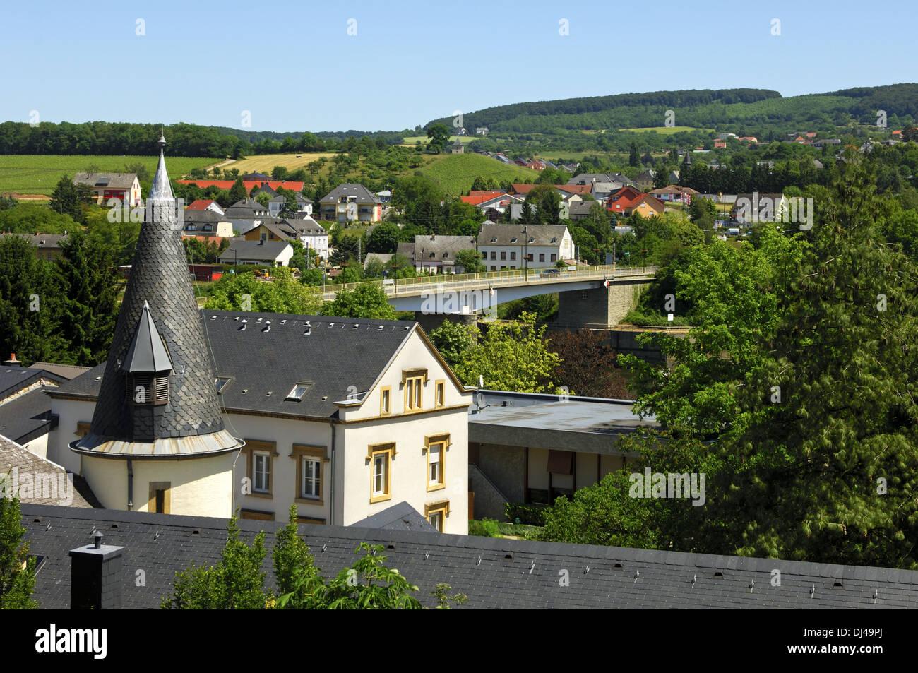 winemakingen village of Schengen, LuxembourgStock Photo