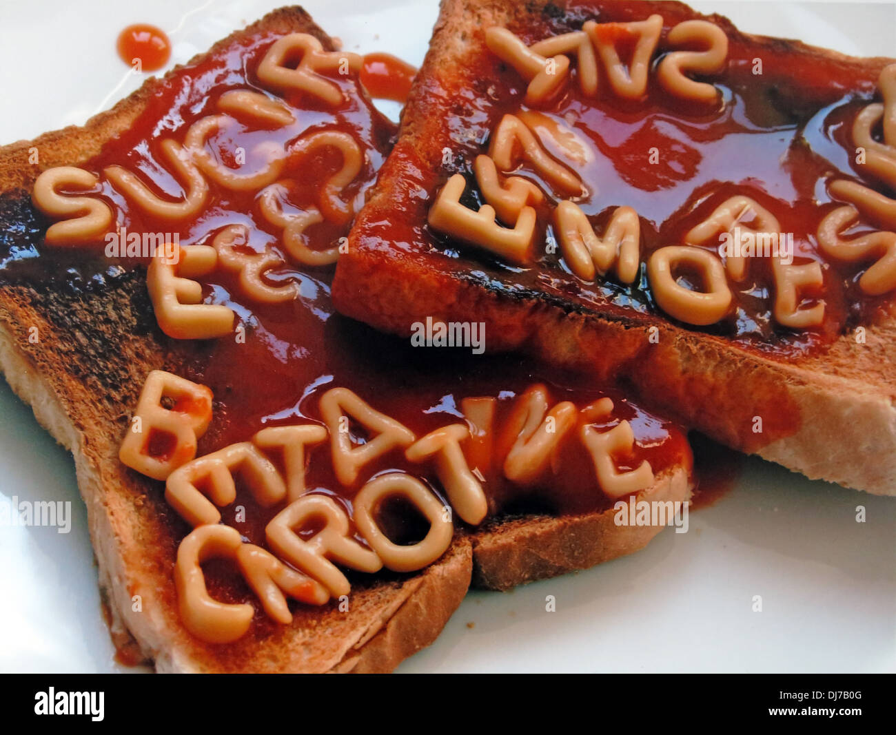 alphagetti,spaghetti,on,toast,spelling,word,words,letters,betacarotene,e-numbers,E,numbers,salt,sugar,too,much,in,our,processed,food,eat,more,rubbish,supermarket,heinz,tomato,sauce,industry,bad,poor,additive,gotonysmith