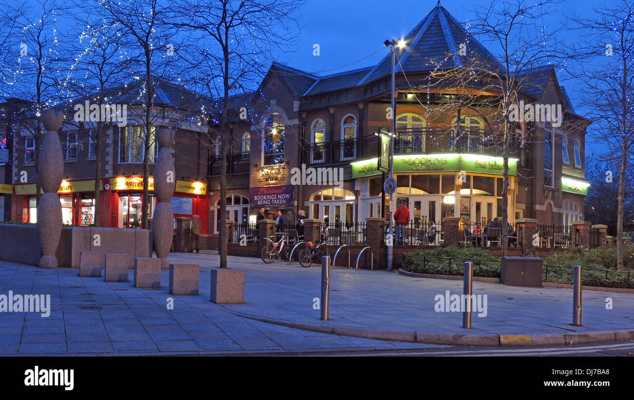 Bar,named,after,Louis,Carroll,night,shot,nightshot,wide,blue,hour,time,nighttime,pubs,bars,camra,Centre,Cheshire,England,UK,at,winter,street,JD,Wetherspoon,house,JDWetherspoon,city,41–43,Buttermarket,Street,GB,WA1,2LY,WA12LY,stabbing,drinking,culture,drinkers,real,ale,cheap,beer,menu,food,JDW,Gotonysmith 41 43 lit up lighted trouble,Buy Pictures of,Buy Images Of