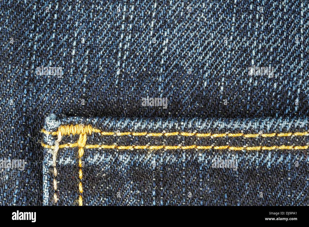 Detail of blue jeans trousers - Stock Image