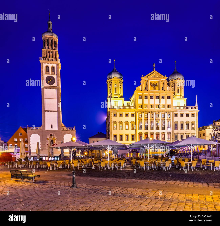 Augsburg, Germany townscape at Rathausplatz. - Stock Image