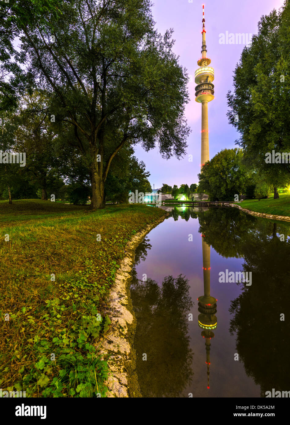 Olympia Park in Munich, Germany - Stock Image