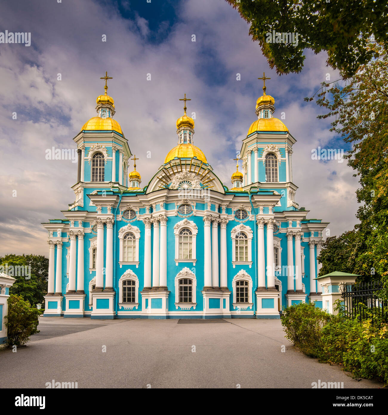 St. Nicholas Naval Cathedral in St. Petersburg, Russia. - Stock Image