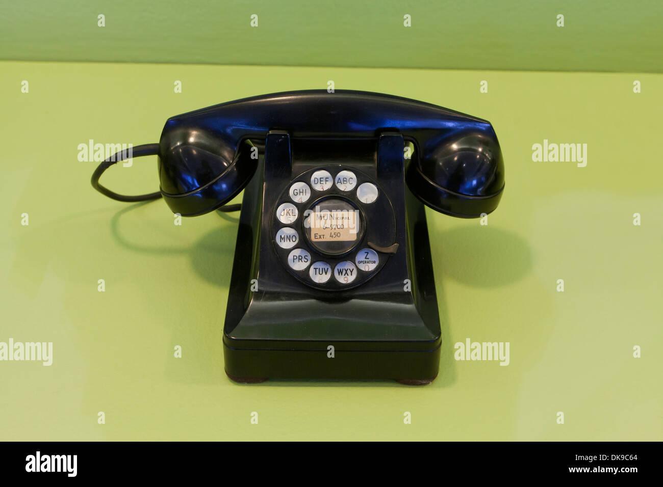 Vintage desk telephone, c. 1950 - Stock Image