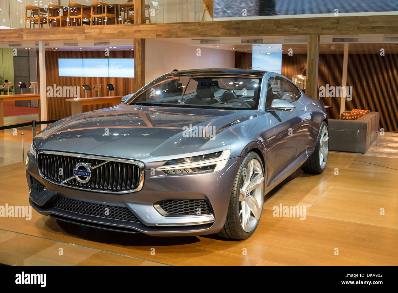 Volvo Concept Coupe plug-in hybrid at Tokyo Motor Show 2013 in Japan - Stock Image